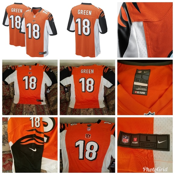 26b3a4d4 Mens Cincinnati Bengals AJ Green Nike Orange Alter NWT